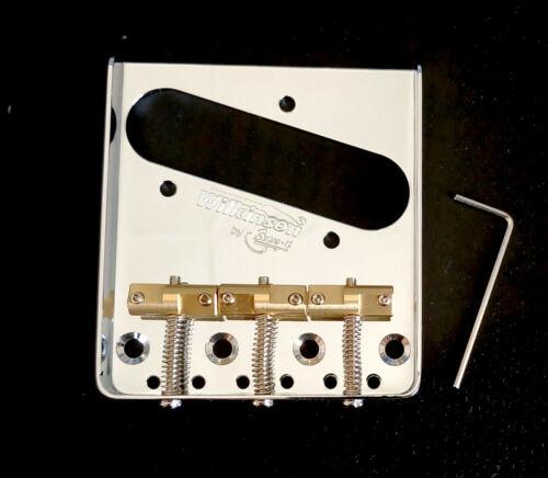 Cordier Wilkinson chrome pour telecaster 3 pontets Compensé en laiton