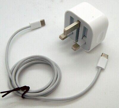 GENUINE Apple 18W USB C Power Adapter + USB C Cable UK Plug iPad Pro 11 12.9 | eBay