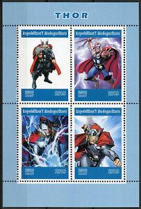 Madagascar-2019-MNH-Thor-4v-M-S-Marvel-Comics-Superheroes-Stamps