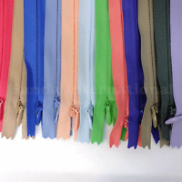 12 High Quality Invisible Zippers Top Open Bottom Closed 24, Bkc, Color 502-579