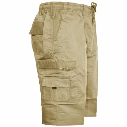 Mens Casual Cargo Shorts Summer Half Pants Elasticated KING BIG Size 4XL 5XL 6XL