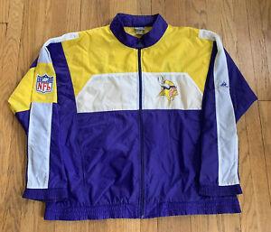 Minnesota-Vikings-Vintage-90-s-APEX-ONE-Full-Zip-Windbreaker-XL-EUC-Rare-SKOL