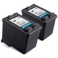 2pk Printronic For HP 27 C8727AN Black Ink Cartridges
