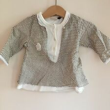 French Ikks, Silk & Cotton 6 month Girls cream top, super soft - Harvey Nicholls
