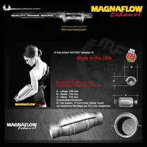 MF Magnaflow Edelstahl Rennkat 200 Zeller 76,2 mm / 3 Zoll Opel Vectra C GTS