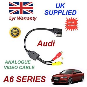 For AUDI A6 4F0051510N RCA PHONO Analogue Audio Video Cable AMI MMI