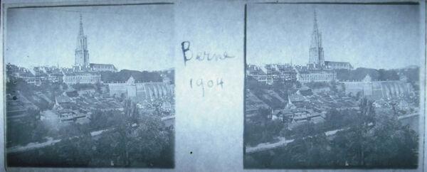Photographie Collégiale Saint-vincent De Berne Berner Münster 1904 Suisse