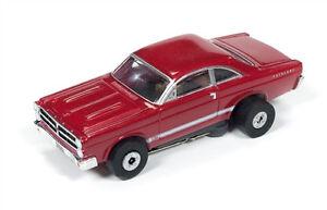 New Autoworld Burgundy 1966 Fairlane HO Thunderjet Slot Car Runs on Aurora AFX