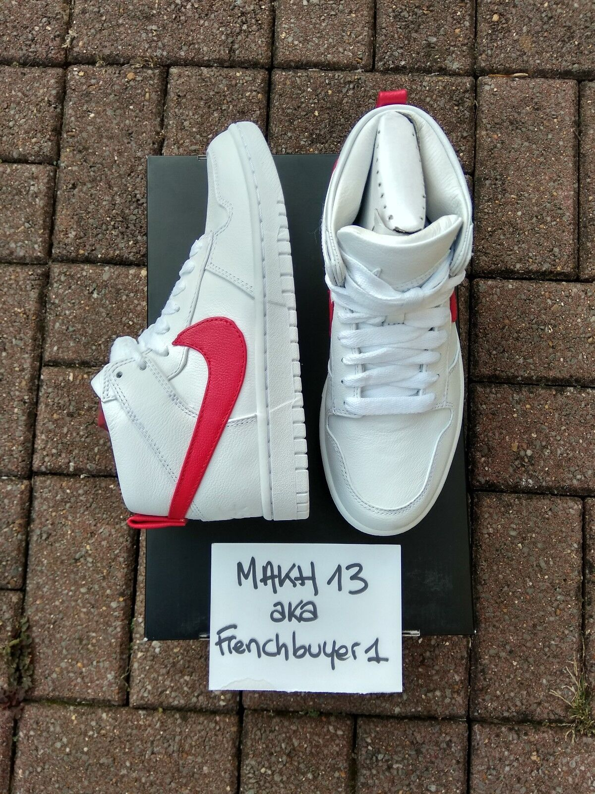 NIKE DUNK LUX CHUKKA / RT RICCARDO TISCI WHITE/DISTANCE RED 910088-100 DS sz.6US