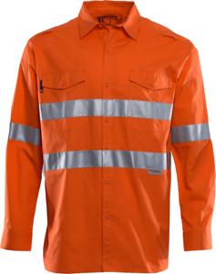Workhorse RIPSTOP HI-VIS VENTED SHIRT MSH188 orange- Size 2XL, 3XL, 4XL Or 5XL