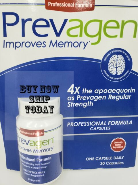 Prevagen 40mg Professional Formula 4x The Strength Apoaequorin 30 Capsules ⭐ NEW