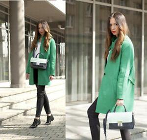 S Xs Small Taille Zara Coat Bloggers Green qSUOB