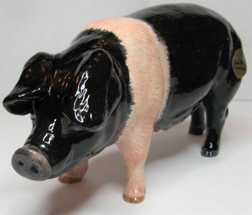 BESWICK Ceramic Animals July 2019 SADDLEBACK PIG Standing