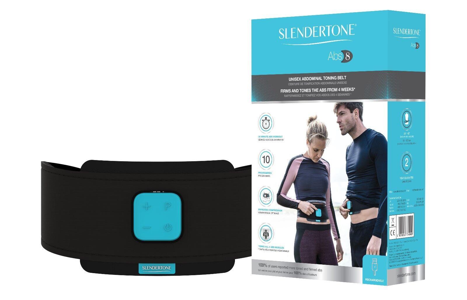 Slendertone ABS8 Unisex-Nuevo abdominal Toning Belt-Li-ion Recargable RRP