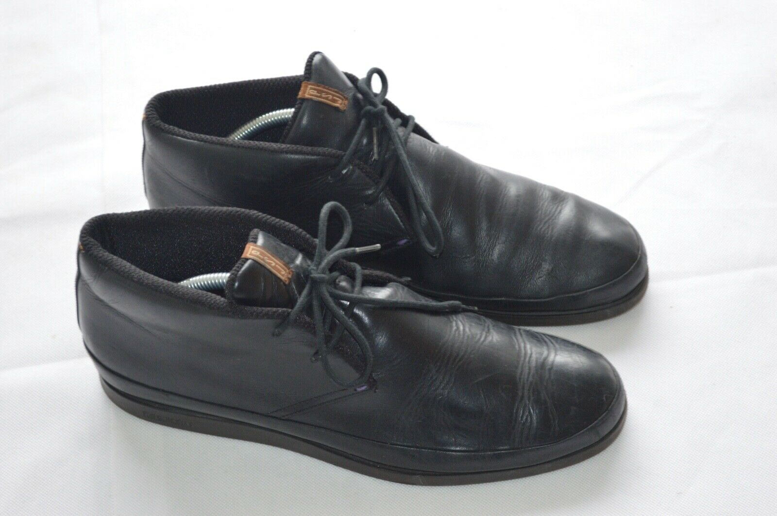 Paul Smith Black Leather Chukka Lace Up Trainers shoes Boots Loomis Mens UK 9 10