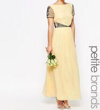 Maya Petite Cap Sleeve Maxi Dress With Embellished Waist Detail - UK 8