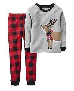 6138945028f3 Carter s Baby Boys  2-Piece Reindeer Pajamas