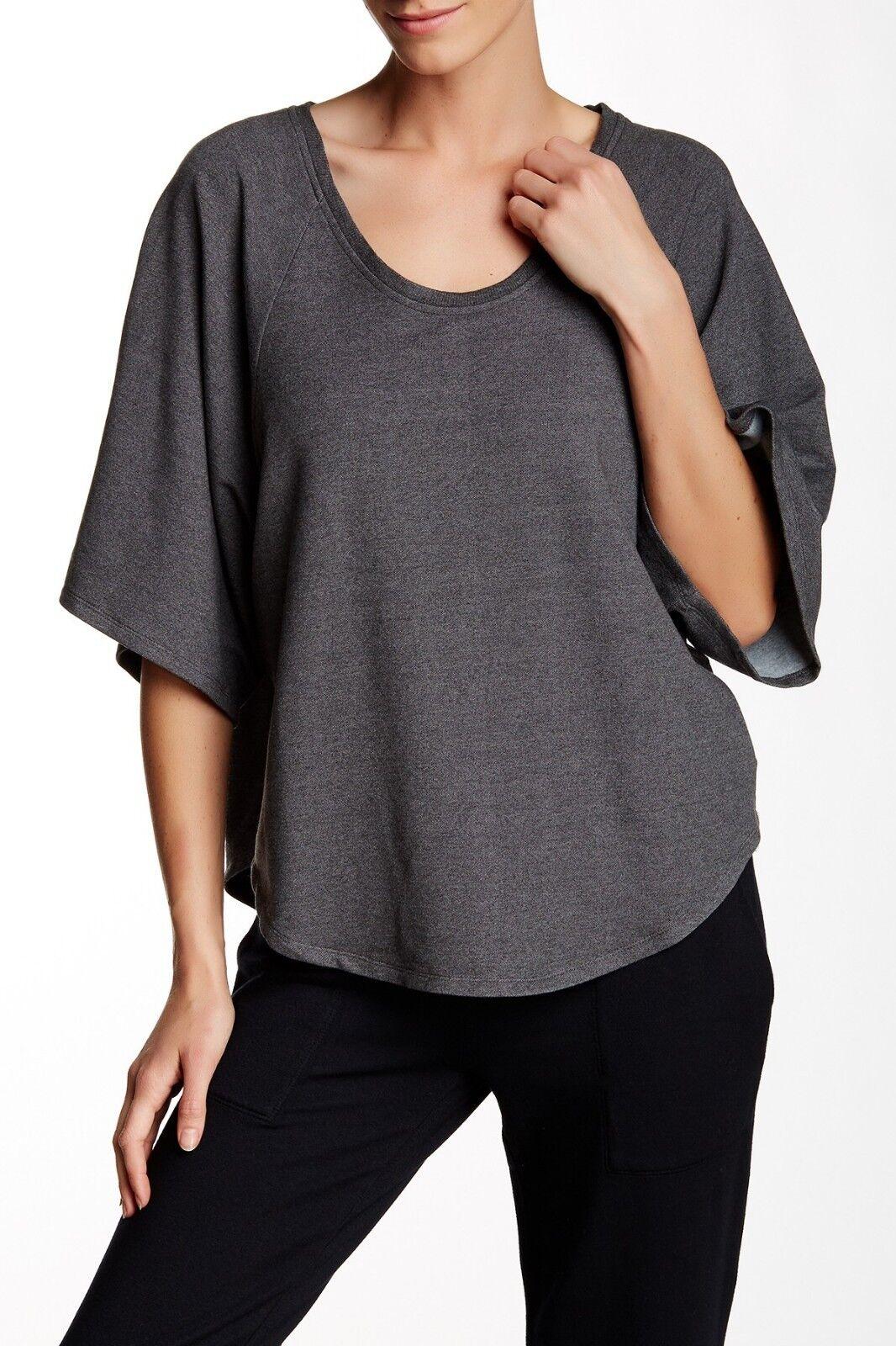 NWT- Soft Joie Kennice Kimono Sleeve Sweatshirt, Charcoal grau - Größe XSmall