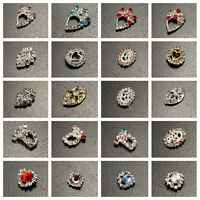 10Pcs 3D Metallic Rhinestones Crystal Nail Art Tips Studs Shiny Sticker Decor