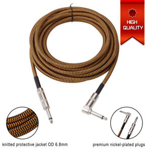 guitar cable free tie electric guitar wire bass cord heavy duty speaker cable ebay. Black Bedroom Furniture Sets. Home Design Ideas