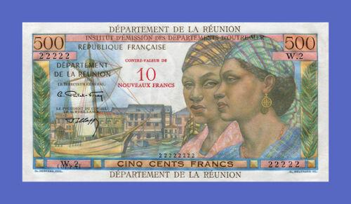 Reproductions REUNION See description!!! 500 FRANCS = 10 NF 1971s