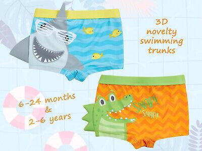 Boys Novelty Shark Crocodile Swim Shorts Baby Boy Swimwear Swimming Trunks Gift