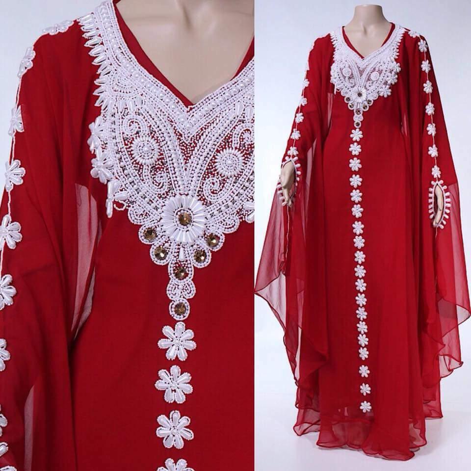 MAROON  FARASHA KAFTAN FANCY AFRICAN DUBAI DUBAI DUBAI ABAYA CAFTAN DRESS MS CREATION088 2b9810