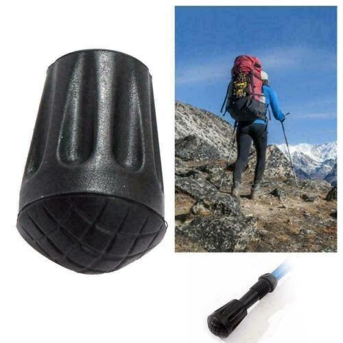 Hiking Trekking Pole Tip Rubber Cover Cap Walking Stick Cane Sleeve Q2D7 H9J0