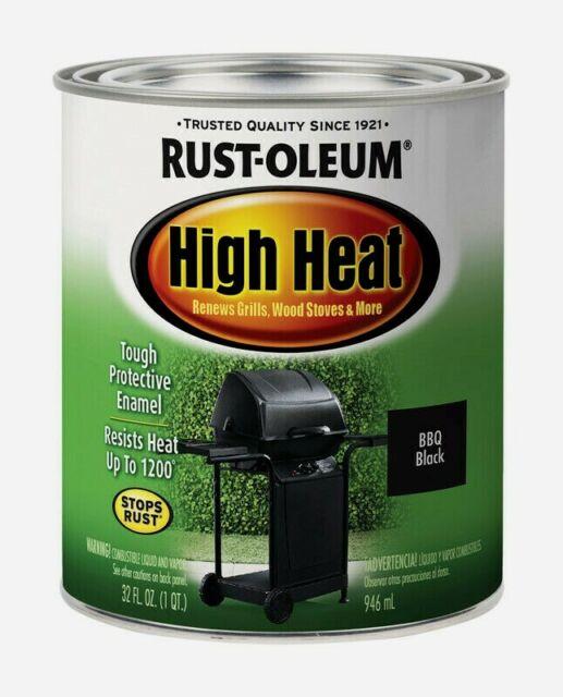 Rust Oleum High Heat 1 Qt Satin Bbq Black Tough Protective Enamel 7778 502 New For Sale Online