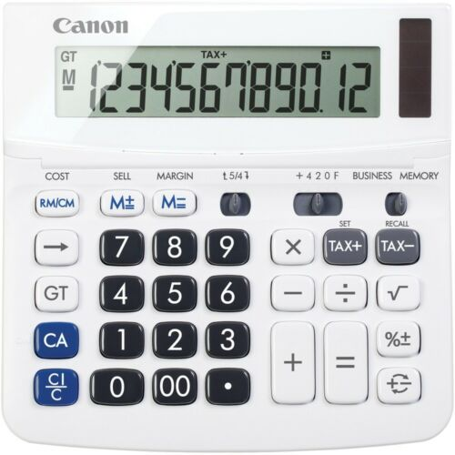 Office Equipment Canon 12 Digit White Desktop Business Calculator ...