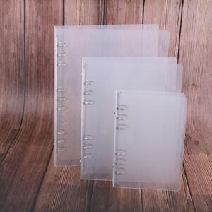 Transparente-Sarga-PP-Binder-Shell-a6-a5-de-seis-hoyos-B5-de-nueve-ho-QA