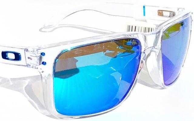 b803a4cc82 NEW  Oakley HOLBROOK CLEAR w POLARIZED PRIZM SAPPHIRE Blue Lens Sunglass  9417-07