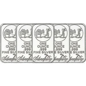Image Is Loading Silvertowne Logo 1 Oz 999 Fine Silver Bar