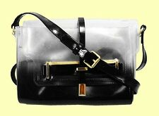VINCE CAMUTO Jelly Polyvore & Patent Black Leather Cross Body Bag Msrp $98.00