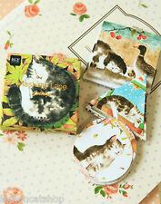 ADESIVI Carini 45pc GATTO pigro Cartone Animato Kitty Craft Planner Scrapbook adesivo fai da te