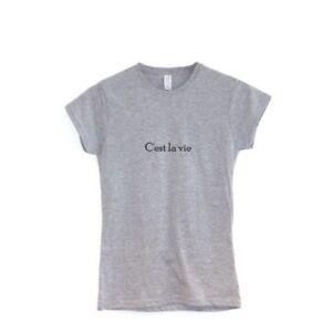 Detalles De Cest La Vie Camiseta Mujer Francés Frase Ropa Tales Is Life Regalo