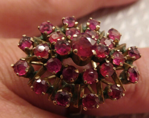 14K Gold Ruby Cocktail Ring