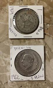1952-amp-1959-Mexico-Coins