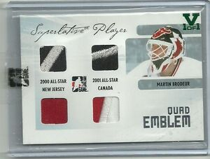 ITG-Superlative-Vault-Quad-Emblem-Martin-Brodeur-Jersey-Patch-Card-1-of-1