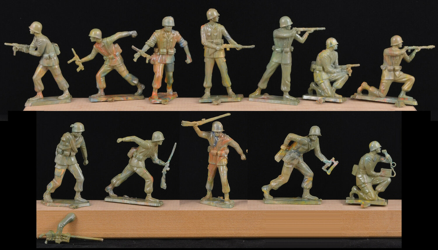 Starlux Commandos - Complete set of 12 - 60mm Unpainted Toy Soldiers
