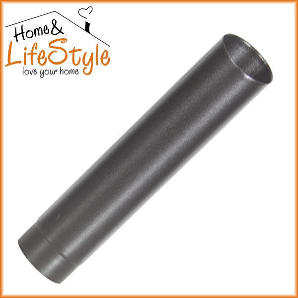 1000mm Vitreous Enammelled Multifuel Flue Pipe Matt Black / Woodburning Stove