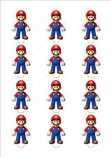 Novelty Super Mario Edible Cake Cupcake Toppers Decorations Birthday Boys Game