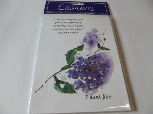 Thank You Very Much For The Sympathy.....20 Sheets /& Envelopes...By Cameos