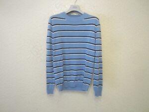 c09db1fb3f4 Sandro Striped Silk-Cotton-Blend Men s Sweater 3607170788249