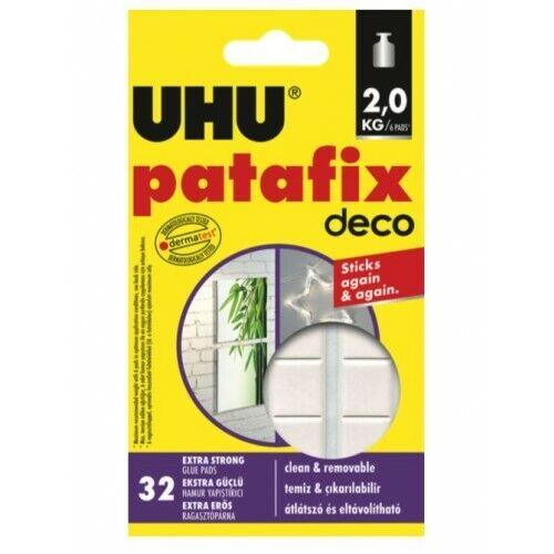 32 pastilles adhésives repositionnables Uhu Patafix Déco