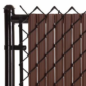 Image Is Loading Chain Link Brown Soli Max Privacy Slat For