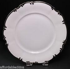 HUTSCHENREUTHER china REVERE (white) Platinum Silver Dinner Plate