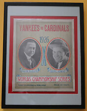 1926 New York Yankees vs. St. Louis Cardinals World Series program w/Babe Ruth