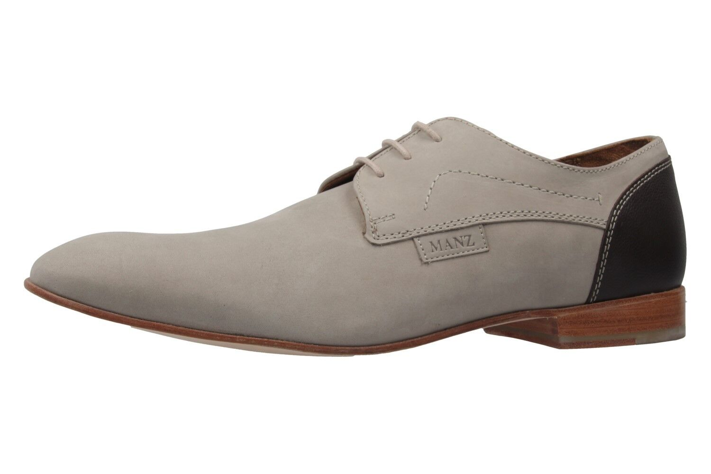 MANZ - Herren Business Schuhe - Terni - Grau Schuhe in Übergrößen