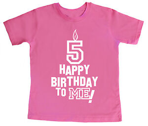 Image Is Loading 5 Birthday T Shirt 034 Happy To